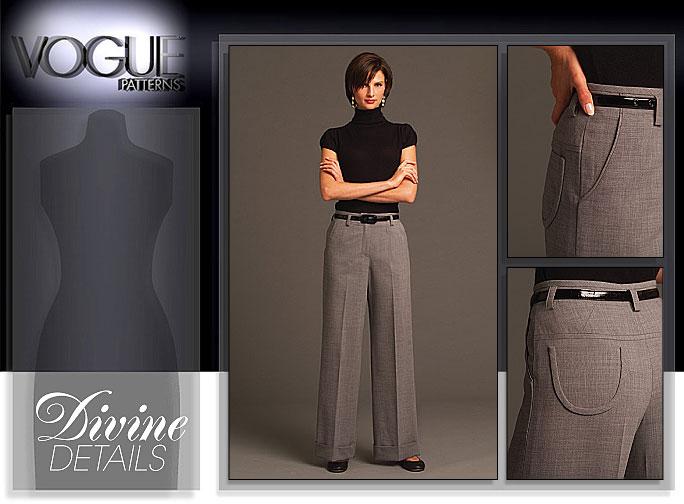 Vogue Patterns MISSES'/MISSES' PETITE PANTS 8479