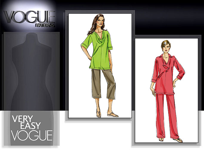 Vogue Patterns MISSES'/MISSES' PETITE TUNIC AND PANTS 8482