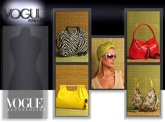 Vogue Patterns BAGS AND TURBAN 8485