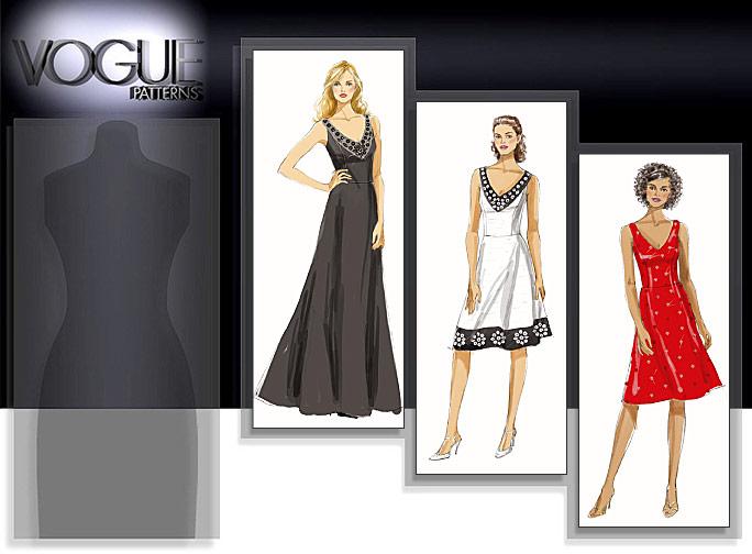 Vogue Patterns MISSES' DRESS 8494