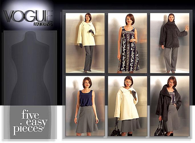 Vogue Patterns MISSES'/MISSES' PETITE JACKET, TOP, DRESS, SKIRT AND PANTS 8524