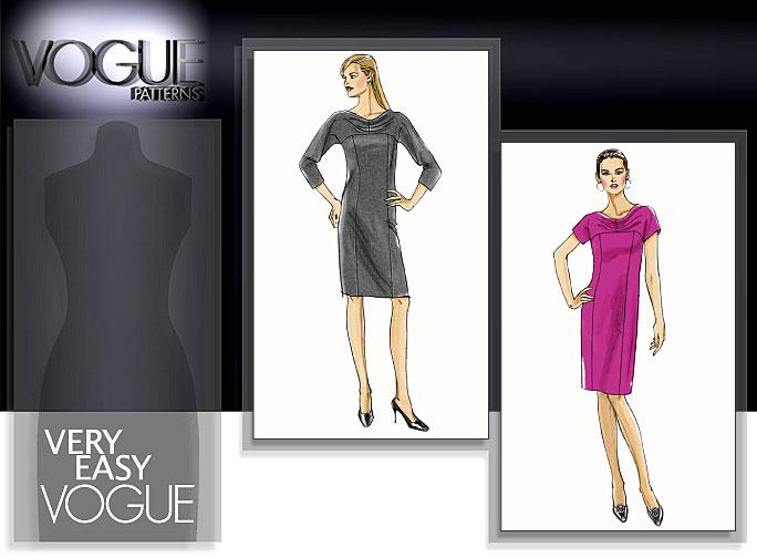 Vogue Patterns MISSES'/MISSES' PETITE DRESS 8529