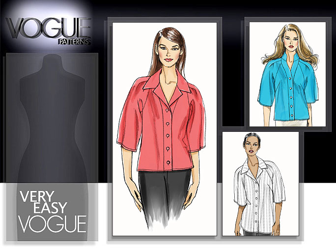 Vogue Patterns MISSES' SHIRT 8535