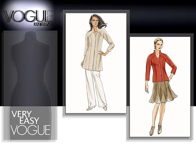 Vogue Patterns MISSES' JACKET, SKIRT AND PANTS 8540