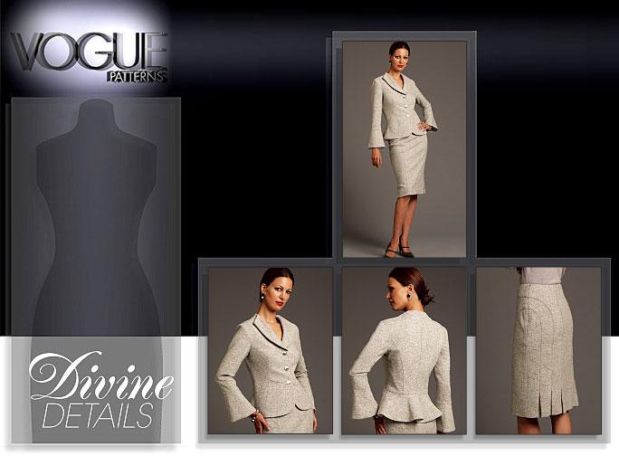 Vogue Patterns MISSES' JACKET AND SKIRT 8543