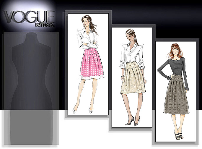 Vogue Patterns MISSES' SKIRT 8560