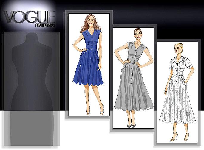 Vogue Patterns MISSES' DRESS 8577