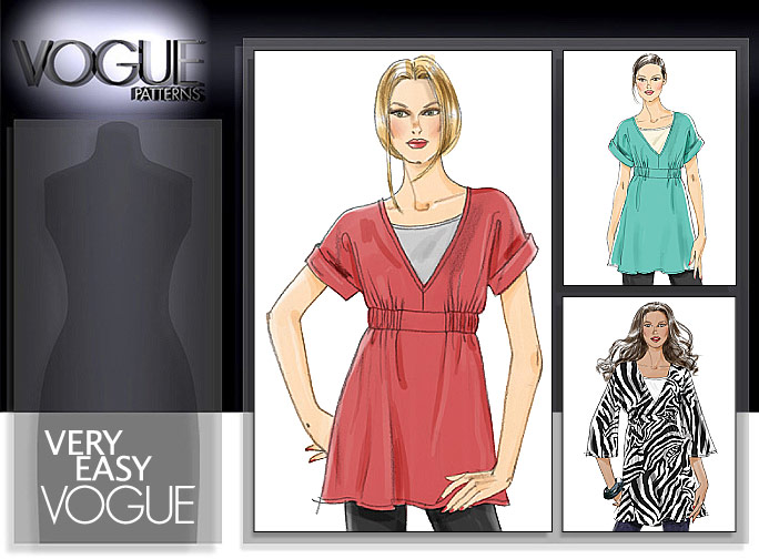 Vogue Patterns MISSES' TUNIC AND TOP 8580