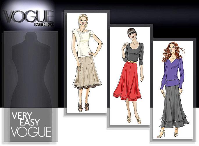 Vogue Patterns MISSES' SKIRT 8583