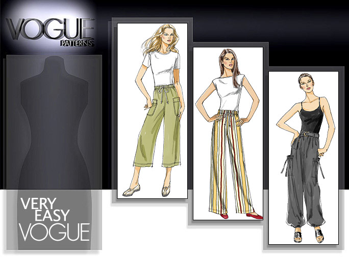 Vogue Patterns MISSES' PANTS AND BELT 8584