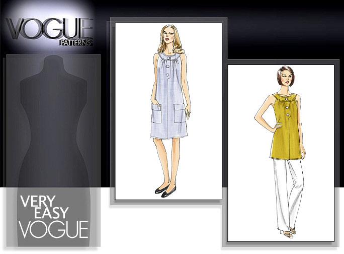 Vogue Patterns MISSES' TUNIC, DRESS AND PANTS 8585