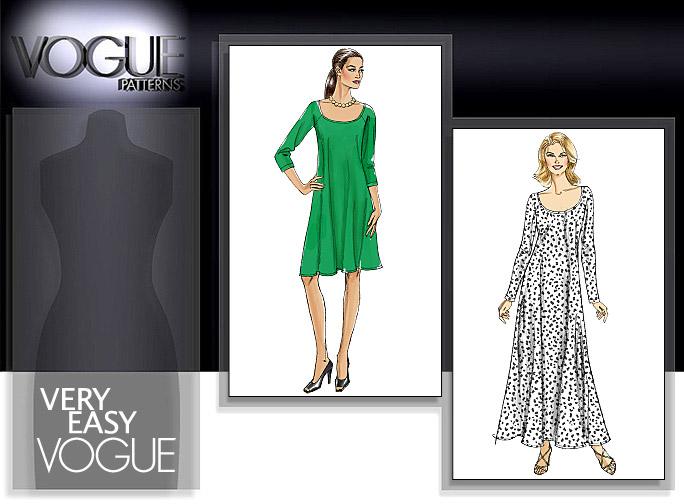 Vogue Patterns MISSES'/MISSES' PETITE DRESS 8592