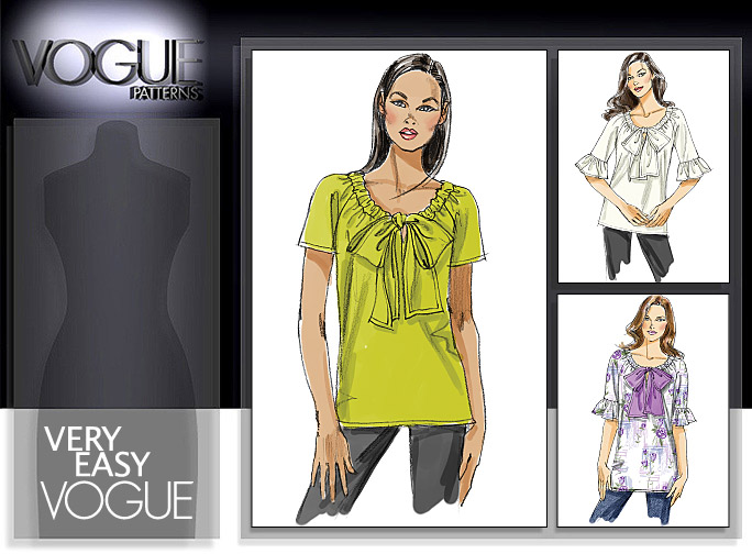 Vogue Patterns MISSES' TOP AND TUNIC 8596