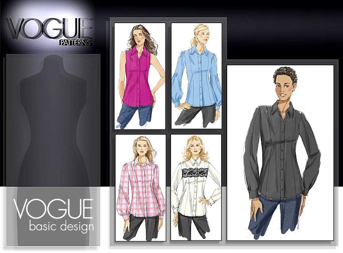 Vogue Patterns MISSES' SHIRT 8598
