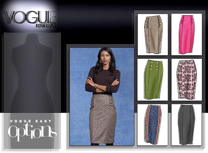 Vogue Patterns MISSES' SKIRT 8603