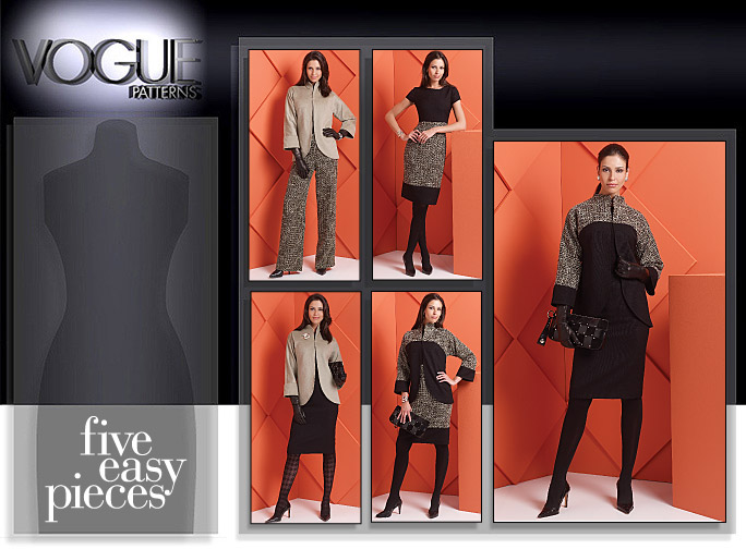 Vogue Patterns MISSES' JACKET, DRESS, SKIRT AND PANTS 8606