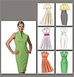Vogue 8633 Pattern ( Size 6-8-10-12 )