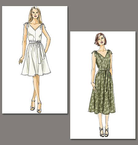 Vogue Patterns Misses' Dress and Sash 8645