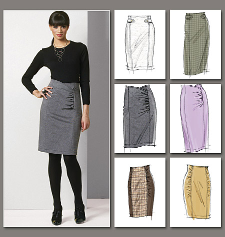 Vogue Patterns Misses' Skirt 8672