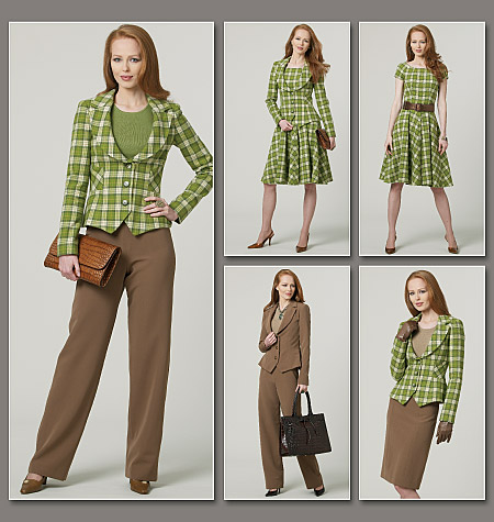 Vogue Patterns Misses' Jacket, Dress, Skirt And Pants 8701