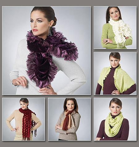 Vogue Patterns Scarves 8702