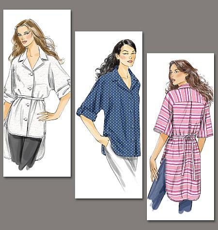 Vogue Patterns misses shirt and belt 8708