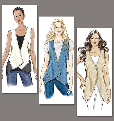 Vogue Patterns misses vest 8713