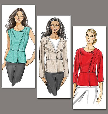 Vogue Patterns misses vest and jacket 8714