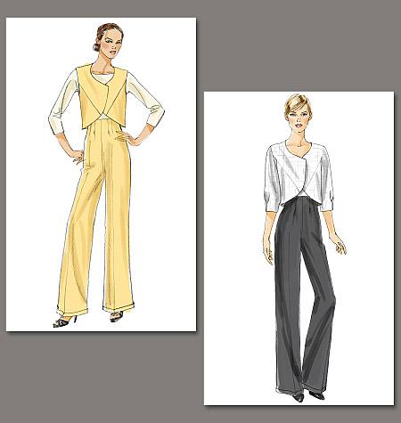 Vogue Patterns misses vest, jacket and pants 8717