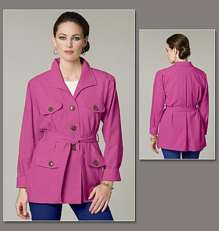 Vogue Patterns Misses' Jacket and Belt 8732
