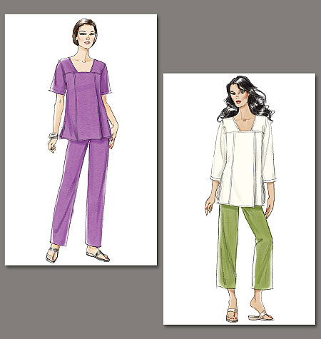Vogue Patterns Misses' Tunic and Pants