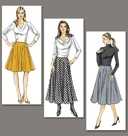 Vogue Patterns Misses' Skirt 8749