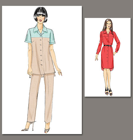Vogue Patterns Misses Top, Dress and Pants 8797