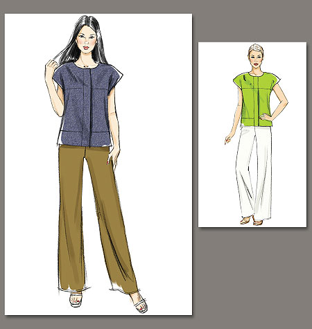 Vogue Patterns Misses Top and Pants 8798