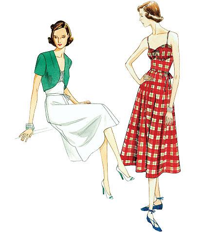 Vogue Patterns Misses' Dress, Belt and Bolero 8812