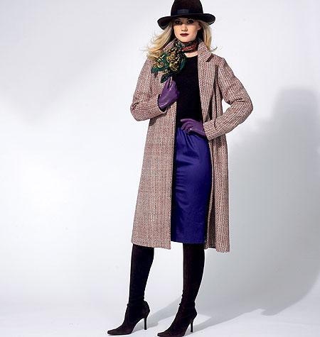 Vogue Patterns Misses' Jacket, Detachable Collar, Belt And Skirt 8841