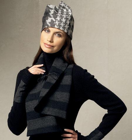 Vogue Patterns Scarves, Fingerless Gloves and Hat 8966