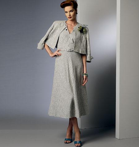Vogue Patterns Misses' Jacket, Dress and Belt 8974