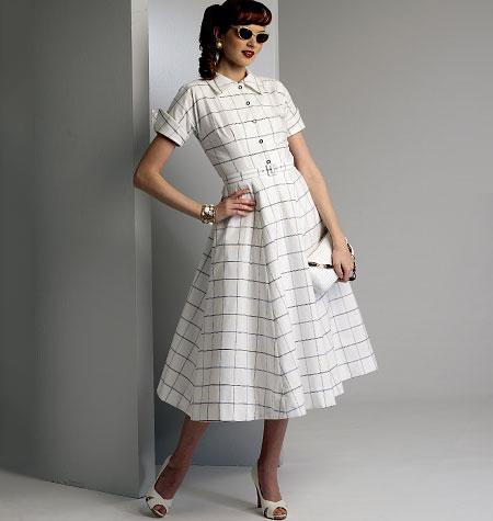 Vogue Patterns Misses' Dress and Belt 9000