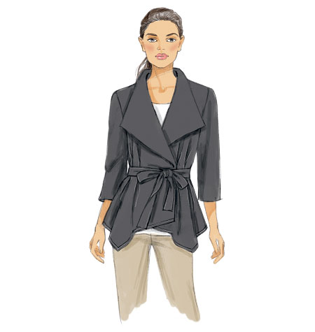 Vogue Patterns Misses' Jacket and Belt 9037