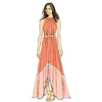 Vogue 9104 Pattern ( Size 6-8-10-12-14 )