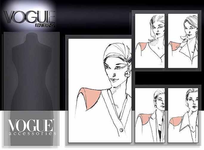 Vogue Patterns Shoulder Pads 9723