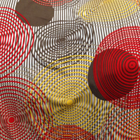 Multi Stripe Circle ITY Knit 2 Yards