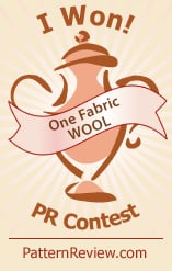 I won 2nd prize in the sewing with wool contest