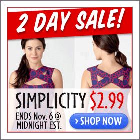 Simplicity 2.99 sale