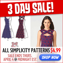 Simplicity 3 Day $4.99 Sale