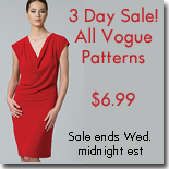 $6.99 Vogue Pattern Sale on PatternReview