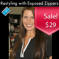 Restyling with Exposed Zippers