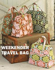 Amy Butler Ab021wt Weekender Travel Bag
