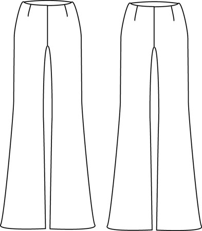 Betsy Ross 003 Wide Leg Pants sewing pattern